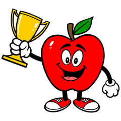 Apple with Trophy