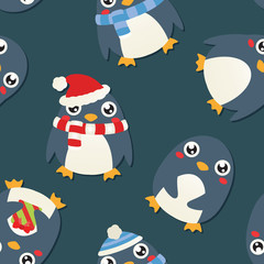 Christmas Penguin Wallpaper