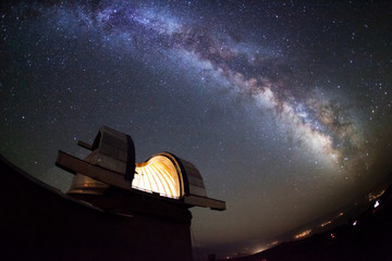 Astronomical observatory under the stars Wall mural