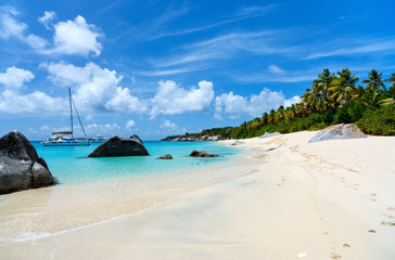 Stunning beach at Caribbean