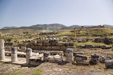 Hierapolis. Ruins of the portico, the first half of I c. AD