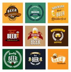 Brewery and beer labels or banners