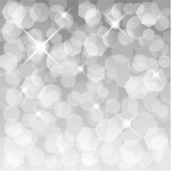 Glittery lights silver abstract background