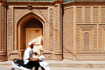 Ornate architecture of the ancient city of Kashgar, China