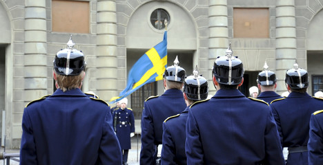 Royal Guard at the Royal Palace in Stockholm