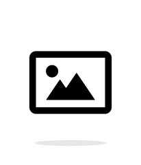 Landscape photo icon on white background.