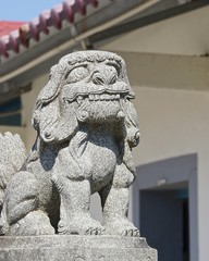 The traditional style of lion guardian at home