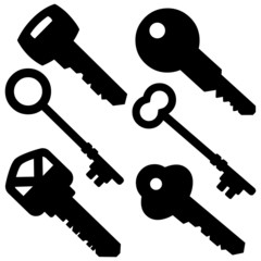 Assorted Key Silhouettes