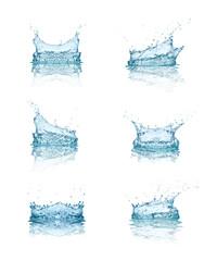 water splash drop blue liquid
