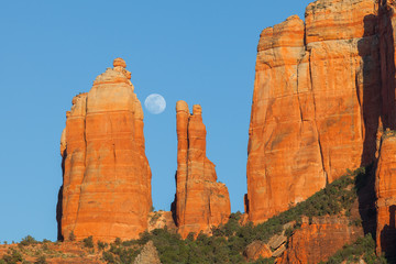 Full Moon Over Cathedral Rock