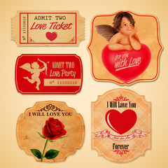 Wall Mural - stickers love vintage