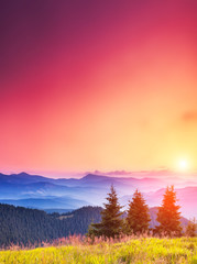 Wall Mural - morning mountain landscape