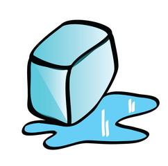 cartoon ice cube design elements