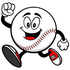 Baseball Mascot Running