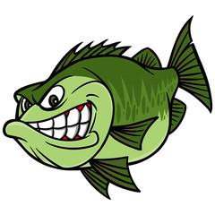 Bass Fishing Mascot