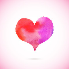 Pink vector painted heart