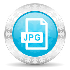 jpg file icon, christmas button