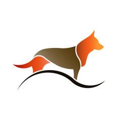 Pet Dog with swoosh logo
