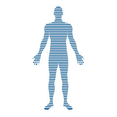 People Body with stripes logo