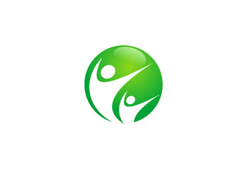 people health ecology vector logo