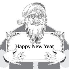 Santa Claus. Christmas Card Poster Banner