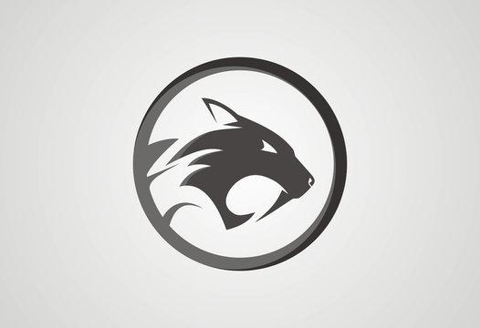 Jaguar head logo vector