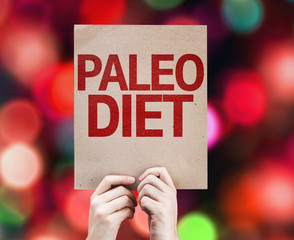 Paleo Diet card with colorful background