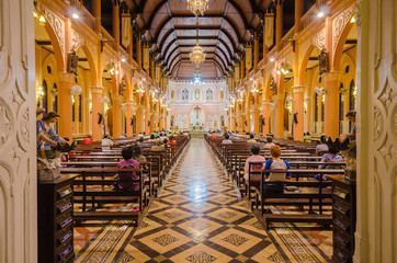 Inside the Cathedral of the Immculate Conception Chanthaburi, Th