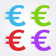 Euro Sign Vector Icon Design