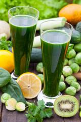 Green healthy detox smoothie
