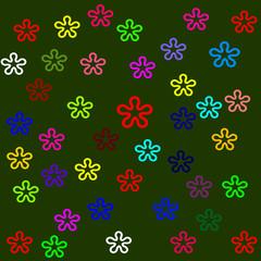 Vector colors flower background design