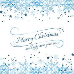 Christmas background for your wishes with snowflakes