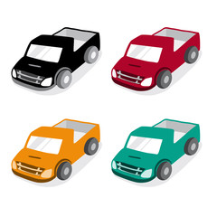 Cute Pickup Truck Car Vector