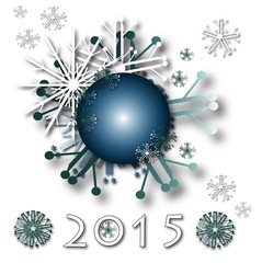 december holiday christmas card with snow 2015