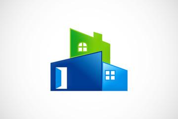 home building abstract logo vector