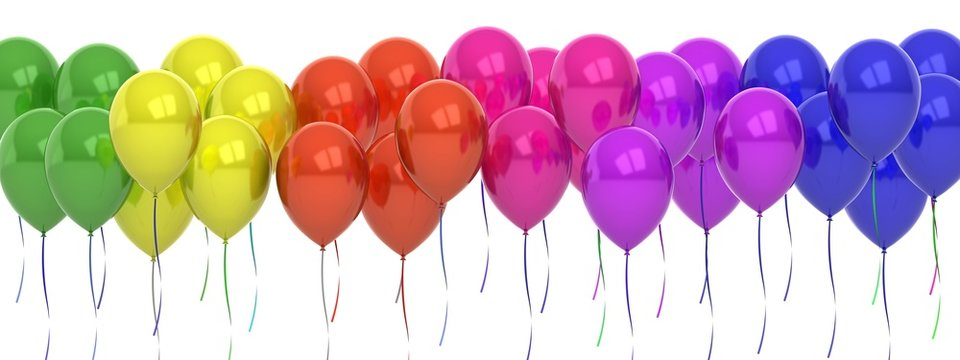 Colors balloons party