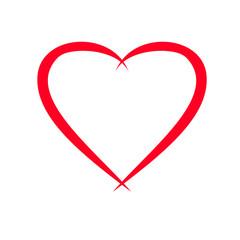 Herz Vorlage für Valentinstag-Grusskarte