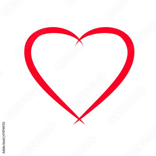 Herz Vorlage für Valentinstag-Grusskarte\