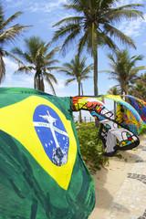 Colorful Canga Kanga Beach Blankets Rio de Janeiro Brazil