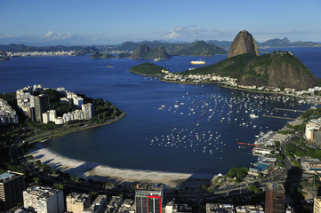 Aerial view of Sugarloaf and Guanabara Bay, Rio de Janeiro