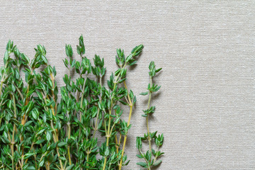 Thyme on the table