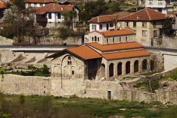 landscape with houses in Veliko Tarnovo, Bulgaria