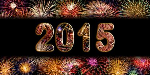 Festive Fireworks for New Years 2015 celebration