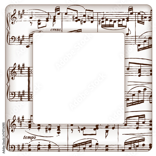 music notes picture frame square copy space - Music Picture Frame