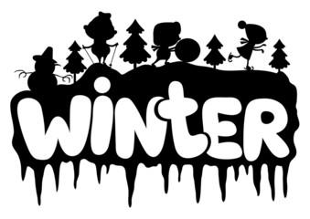 Vector sign. Winter.