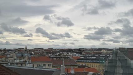 Cloudy weather over Vienna Ottakring