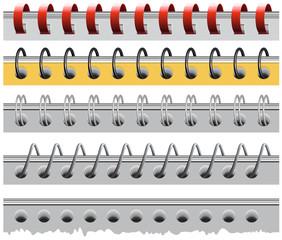 Set spiral paper binder