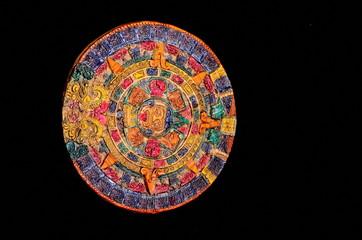 Typical Colored Clay Maya Calendar