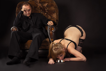 female slave with his master