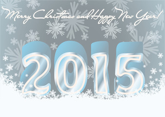 Happy new 2015 year invitation postcard, vector